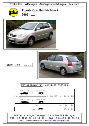 Notice de montage - Attelage Toyota