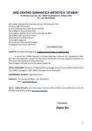 """ASD CENTRO GINNASTICA ARTISTICA """"STABIA"""" - Comitato ..."""