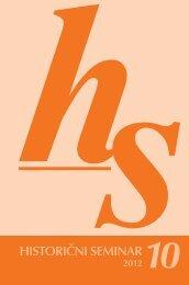 HS 10 - Historični seminar ZRC SAZU