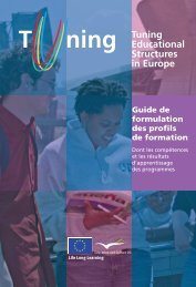 Guide de formulation des profils de formation - tuning project