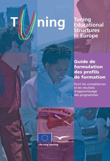 Guide de formulation des profils de formation - tuning project