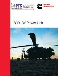 Cummins Diesel 800 kW Generator Sets - Product Sheet - PTS Data ...