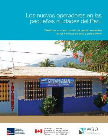 Los nuevos operadores en las pequeñas ciudades del Perú - WSP