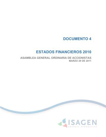 DOCUMENTO 4 ESTADOS FINANCIEROS 2010 - Isagen