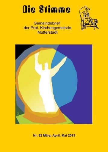 Stimme 82 - Protestantische Kirchengemeinde Mutterstadt