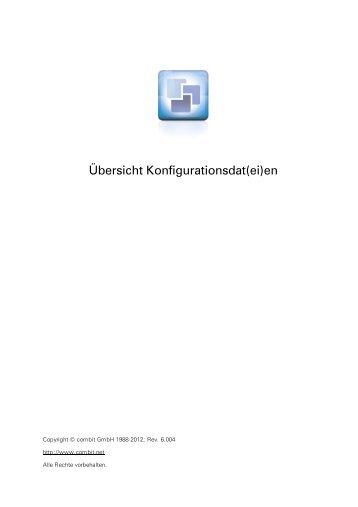 combit - Übersicht Konfigurationsdat(ei)en - combit GmbH