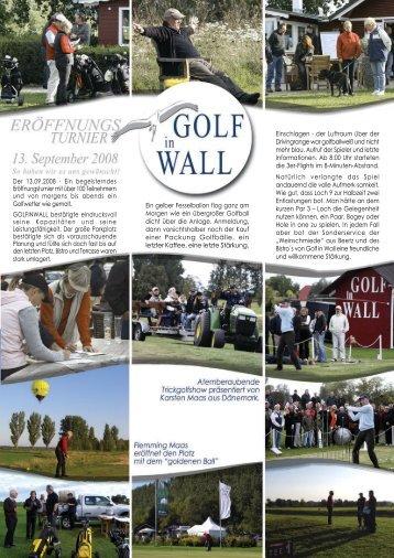 f 3. September 2008 - Golf in Wall