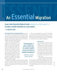 An Essential Migration Loma Linda University Medical ... - Sybase