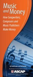 to download a brochure on Music and Money. (PDF) - ascap