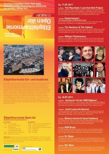 Programmflyer zum Download - Stiftung Elbphilharmonie Hamburg