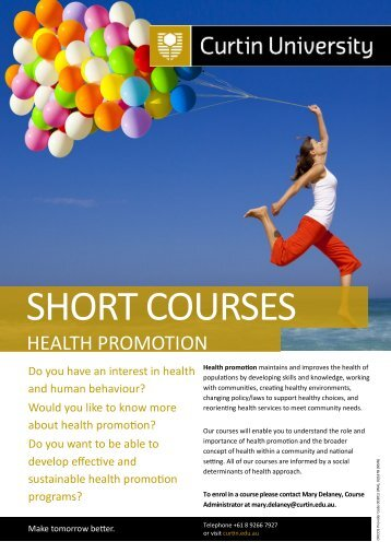 Information - Health Sciences - Curtin University