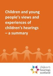 Children and young people's views and experiences of children's ...
