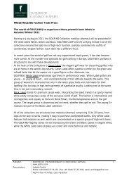 PRESS RELEASE Fashion Trade Press The world of GOLF(INO) to ...