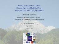 From Cuoricino to CUORE: Neutrinoless Double Beta Decay ...