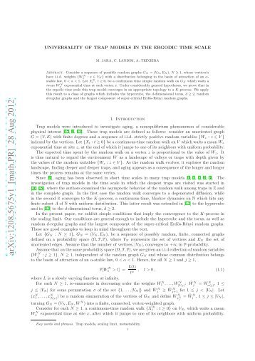 arXiv:1208.5675v1 [math.PR] 28 Aug 2012 - IMPA