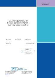 Carbon footprint study - Billerud AB
