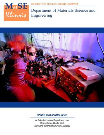 MatSE news/Fall02 - Department of Materials Science and ...