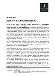 PRESSEMELDUNG GOLFINO und G+ Herbst/Winter-Kollektionen ...