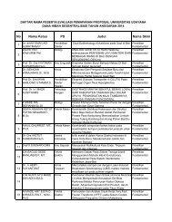 Daftar Peserta Pemaparan - Lembaga Penelitian dan Pengabdian ...