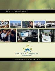 Rapport annuel 2008 - Technologies du développement durable ...
