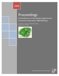 Proceedings - College of Agricultural, Human, and Natural ...