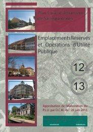 12-13. emplacements réservés et Opératons d'utilité publique