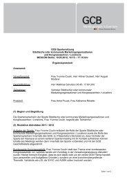 GCB Spartensitzung Städtische oder kommunale ...