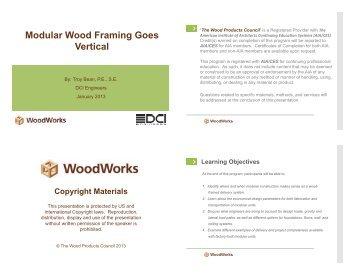 Modular Wood Framing Goes Vertical - WoodWorks