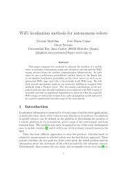WiFi localization methods for autonomous robots - GSyC