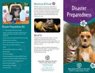 Disaster preparedness for pet owners - Hawaiian Humane Society