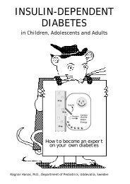 INSULIN-DEPENDENT DIABETES - Children with Diabetes