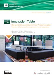 Innovation Table - PFI Plattform für Innovationsmanagement