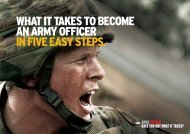 what it takes to become an aRmY officeR in five ... - Defence Jobs