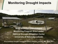 Monitoring Drought Impacts - National Drought Mitigation Center