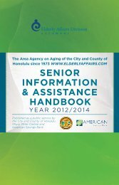 senior information & assistance handbook - City & County of Honolulu