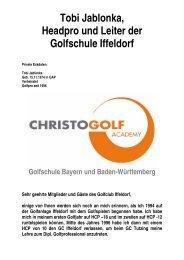 Tobi Jablonka, Headpro und Leiter der Golfschule Iffeldorf