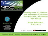 Development of Cadmium and Hexavalent Chromium Free ... - E2S2