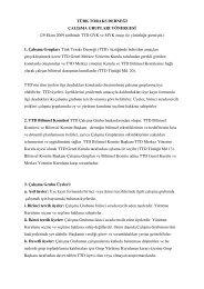 Çalışma Grupları Yönergesi - Türk Toraks Derneği