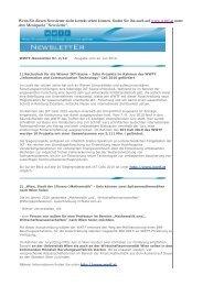 Newslette - Wiener Wissenschafts-, Forschungs