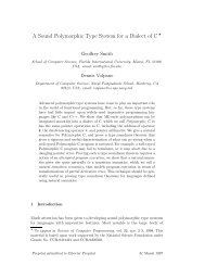 A Sound Polymorphic Type System for a Dialect of C* - Florida ...