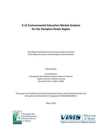 K-12 Environmental Education Market Analysis - Virginia Institute of ...