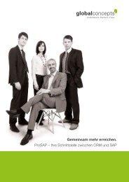 Gemeinsam mehr erreichen. ProSAP – Ihre ... - Global Concepts