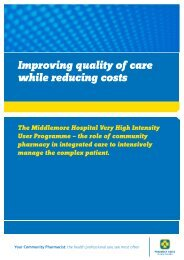 Improving quality of care while reducing costs - Pharmacy Guild of ...