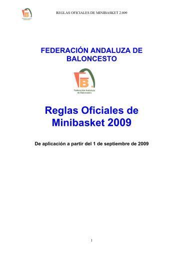 Reglas Oficiales de Minibasket 2009