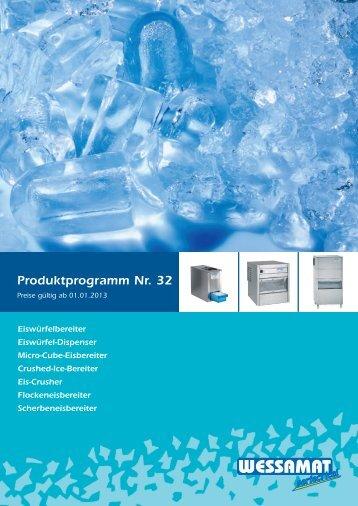 Produktübersicht - WESSAMAT Eismaschinenfabrik GmbH