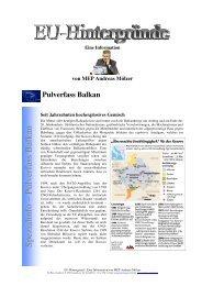 Pulverfass Balkan - Andreas Mölzer