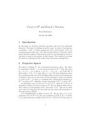 Curves in P2 and Bezout's Theorem