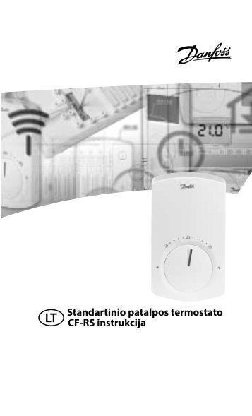 Standartinio patalpos termostato CF-RS instrukcija - Danfoss