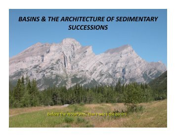 BASINS & THE ARCHITECTURE OF SEDIMENTARY SUCCESSIONS