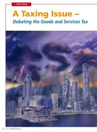 Cover Story - A Taxing Issue: Debating the Goods and Services Tax
